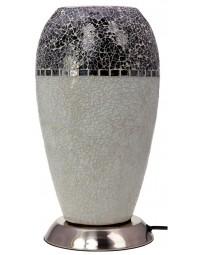 New Dutch - mozaïek glazen lamp - staand - 220 volt - grijs/zilver 27 cm