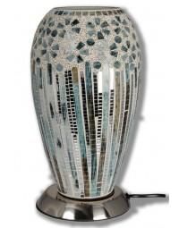New Dutch - mozaïek glazen lamp - staand - 220 volt - groen/zilver 27 cm