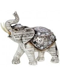 Olifant - beeld - oud papier - 26 cm