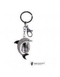 Sleutelhanger Dolfijn - kristal - bling bling - 12cm