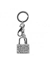 Sleutelhanger Slot - kristal - bling bling - 12cm