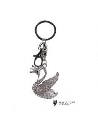 Sleutelhanger Zwaan - kristal - bling bling - 12cm
